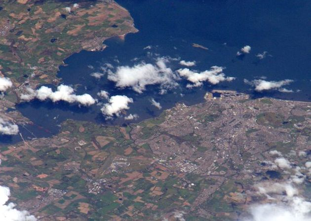 time peake edinburgh from space station