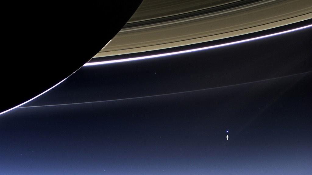 the earth from Saturn Cassini